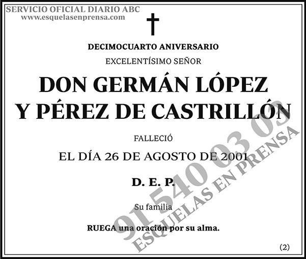 Germán López y Pérez de Castrillón